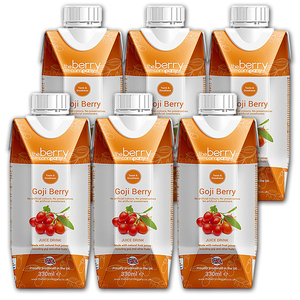 The Berry Company Goji Berry Fruit Juice 6 Pack (330ml per pack)