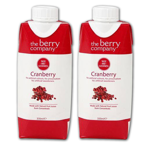The Berry Company Cranberry Fruit Juice 2 Pack (330ml per pack)