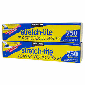 Kirkland Signature Stretch-tite Plastic Food Wrap 2 Pack (12in x 750ft per box)