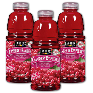 Langers Cranberry Raspberry Juice 3 Pack (946ml per pack)