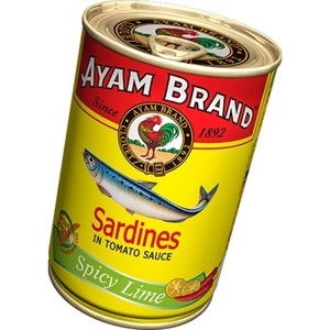 Ayam Brand Sardines in Tomato Sauce with Spicy Lime 154g