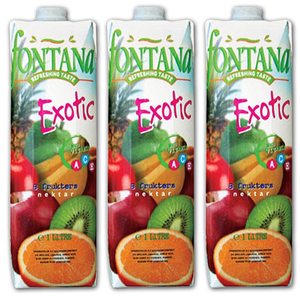 Fontana Exotic 8 Fruit Juice Nectar 3 Pack (1L per pack)