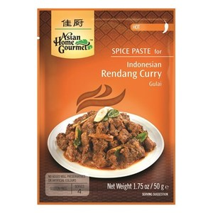 Asian Home Gourmet Spice Paste for Indonesian Rendang Curry 50g