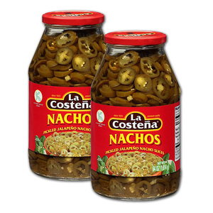 La Costena Pickled Jalapeno Nacho Slices 2 Pack (1.8kg per bottle)