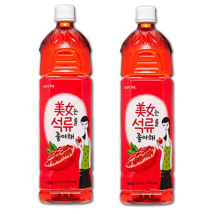 Lotte Pomegranate Juice 2 Pack (1.5L per bottle)