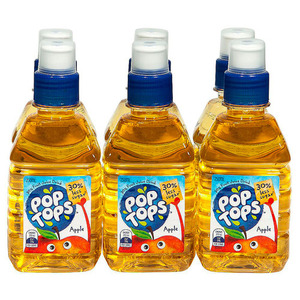Pop Tops Apple Juice 6 Pack (250ml per bottle)