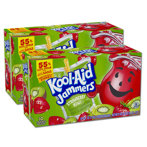 Kraft Foods Kool Aid Jammers Strawberry Kiwi 2 Pack (10's per box)