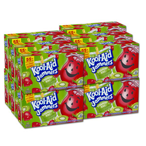 Kraft Foods Kool Aid Jammers Strawberry Kiwi 12 Pack (10's per box)