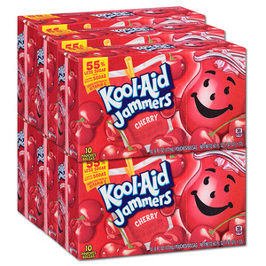 Kraft Foods Kool Aid Jammers Cherry 6 Pack (10's per box)
