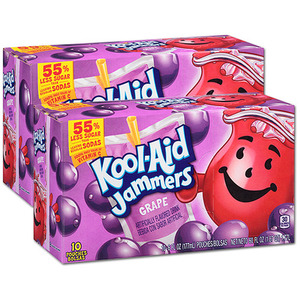 Kraft Foods Kool Aid Jammers Grape 2 Pack (10's per box)