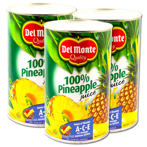 Del Monte Pineapple Juice 3 Pack (1.36L per can)