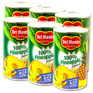 Del Monte Pineapple Juice 6 Pack (1.36L per can)