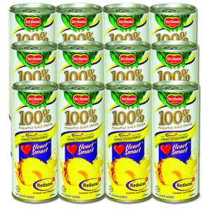 Del Monte 100% Pineapple Juice with Reducol 12 Pack (240ml per can)