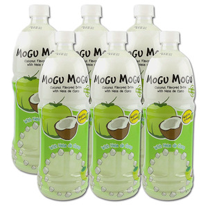 Mogu Mogu Coconut Flavored Drink 6 Pack (1L per bottle)