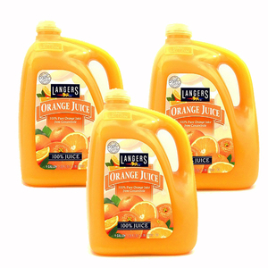 Langers Orange Juice 3 Pack (3.78L per bottle)