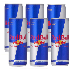 Red Bull Energy Drink 6 Pack (250ml per bottle)
