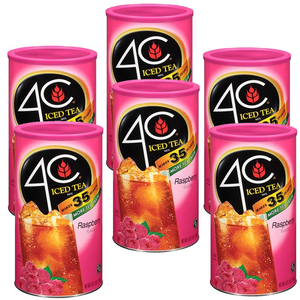 4C Iced Tea Raspberry 6 Pack (223g per can)