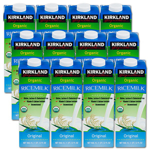 Kirkland Signature Organic Rice Milk 12 Pack (946ml per pack)