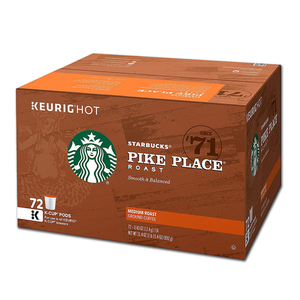 Starbucks Pike Place K Cups 72 Count