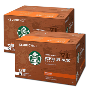 Starbucks Pike Place K Cups 2 Pack (72 Count per box)