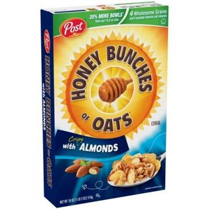 Post Honey Bunches of Oats with Crispy Almonds Cereal 411g