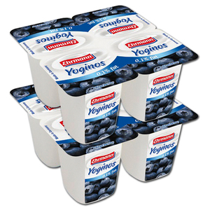 Ehrmann Yoginos Blueberry 2 Pack (4's per pack)