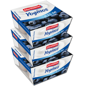 Ehrmann Yoginos Blueberry 3 Pack (4's per pack)