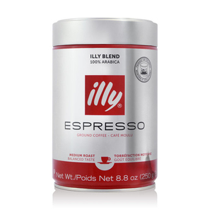 Illy Ground Espresso Medium Roast Coffee 250g