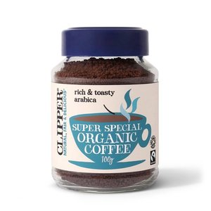 Clipper Fairtrade Organic Instant Freeze Dried Medium Coffee 100g