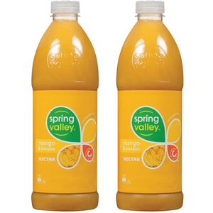 Spring Valley Mango and Banana Juice 2 Pack (1.25L per bottle)