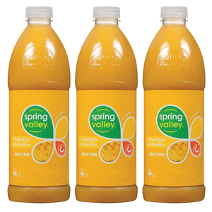 Spring Valley Mango and Banana Juice 3 Pack (1.25L per bottle)