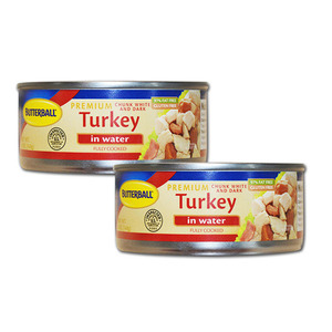Butterball Premium Turkey in Water White and Dark Meat 2 Pack (142g per can)