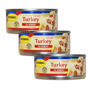 Butterball Premium Turkey in Water White and Dark Meat 3 Pack (142g per can)