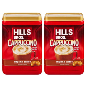 Hills Bros. Cappuccino English Toffee 2 Pack (396g per pack)