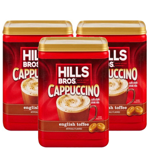 Hills Bros. Cappuccino English Toffee 3 Pack (396g per pack)