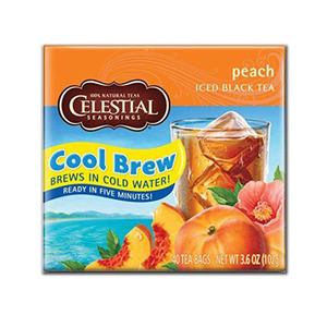 Celestial Peach Cool Brew 40 Count