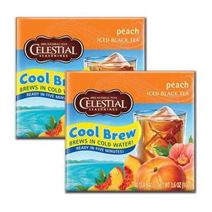 Celestial Peach Cool Brew 2 Pack (40 Count per box)