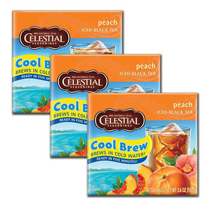 Celestial Peach Cool Brew 3 Pack (40 Count per box)