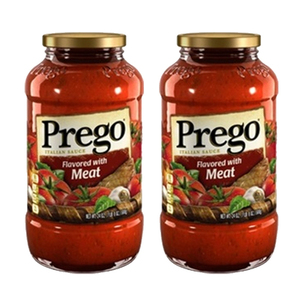 Prego Flavored with Meat Italian Sauce 2 Pack (680g Per Jar)