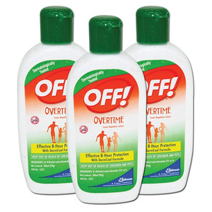 OFF! Overtime Insect Repellent Lotion 3 Pack (100ml per tube)