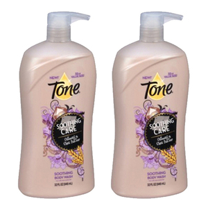 Tone Soothing Oatmeal Body Wash 2 Pack (946ml 2 Bottle)