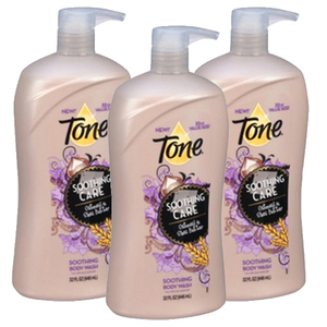 Tone Soothing Oatmeal & Shea Butter Body Wash 3 Pack (946ml 2 Bottle)