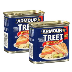 Armour Star Treet Hot & Spicy Luncheon Meat 2 Pack (340g Per Can)