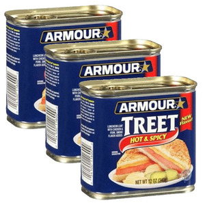 Armour Star Treet Hot & Spicy Luncheon Meat 3 Pack (340g Per Can)