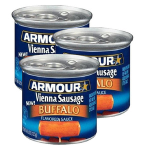 Armour Star Vienna Sausage Buffalo 3 Pack (130g Per Can)