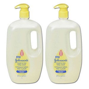 Johnson & Johnson Head to Toe Baby Wash 2 Pack (1L per bottle)