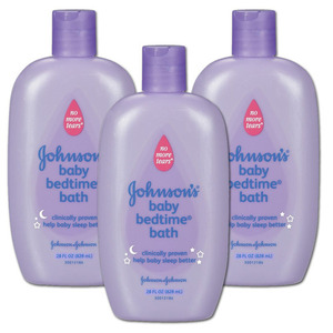 Johnson & Johnson Bed Time Bath 3 Pack (828ml per bottle)