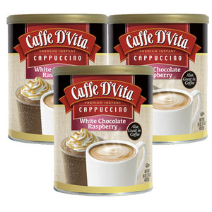 Caffe D'Vita White Chocolate Raspberry 3 Pack (453.6g Per Can)