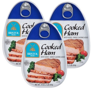 Bristol Cooked Ham 3 Pack (454g Per Can)