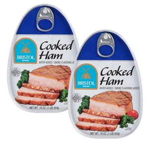 Bristol Cooked Ham 2 Pack (454g Per Can)